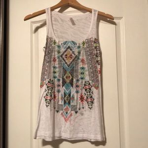Aztec tank top with bling